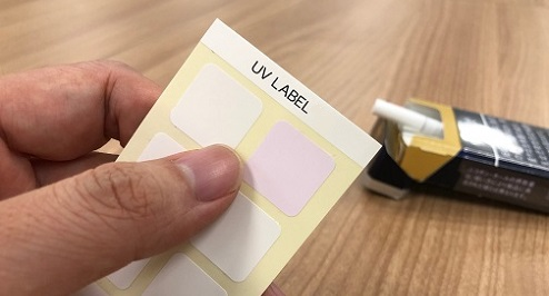 UV LABEL: Sensitivity to UV-C light
