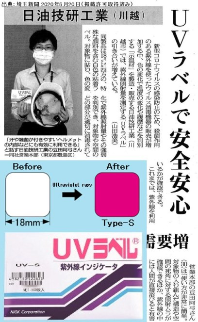 Safe and secure with UV label =Newspaper=